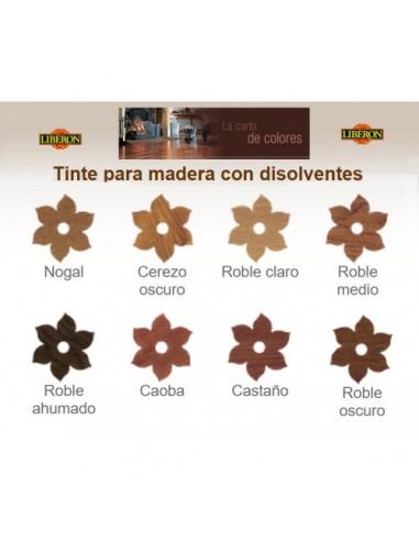 TINTE DISOLVENTE CASTAÑO 500ML